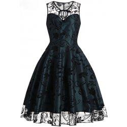Dámské Retro šaty se sametovým potiskem 1b8fc01e29
