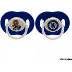 CurePink dudlíky FC Chelsea set 2 kusy modré