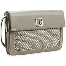 Calvin Klein Elegantní kabelka Nicole Woven Triple Compartment Date Bag 36095027 Grey