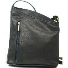 Vera Pelle Made In Italy kožená kabelka crossbody černá 108272547f