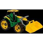 LENA 2080 Traktor se lžící a bagrem zeleno žlutý 107cm