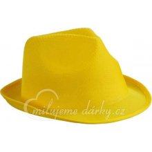 cdc4b6bde9d Žlutý textilní unisex klobouk