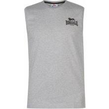 09bc278ec596 Lonsdale Sleeveless T Shirt Mens Grey M Black