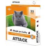 Antiparazitní obojek Attack pro kočky 35 cm
