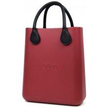 O bag kabelka O Chic Bordeaux s černými krátkými koženkovými držadly 321a3c2fc85