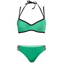 727888cbe19 Kristal plavky se skrytou kosticí S817 zelená
