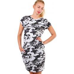 79ce84d8d49b YooY dámské maskáčové šaty s krátkým rukávem šedá alternativy ...