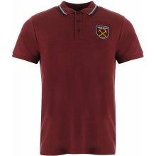 Source Lab West Ham United Polo Shirt Mens Claret/Blue