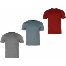 Donnay 3 Pack T Shirts Mens Burg/StBlu/Char