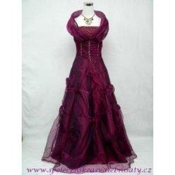 vínové bohaté princess šaty do společnosti na ples svatbu červené ... d184faed1eb