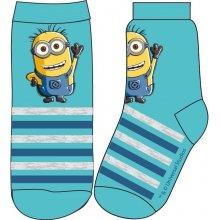 E plus M Chlapecké ponožky Mimoni modré