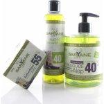 Saryane Aleppo Asmat Tradiční Aleppo mýdlo 55% 200 g + tekuté mýdlo Aleppo 500 ml + sprchový gel Aleppo 250 ml dárková sada