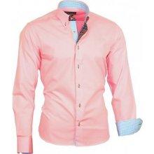 Binder De Luxe košile pánská 82302 dlouhý rukáv Růžová 4eb4486328
