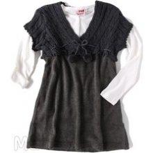 Million x Set delší tunika šaty + tričko dl. rukáv šedá
