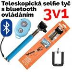 Neven Monopod - teleskopický držiak na selfie + Bluetooth spúšť fotoaparátu Z07-1 modra