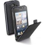 Pouzdro CellularLine Flap Essential Huawei Ascend G510 PU kůže černé