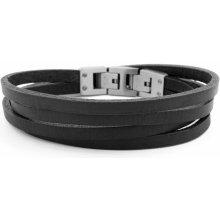 Lucleon Kožený náramek Black & Steel Roy Double-Wrap MP_bracelet231