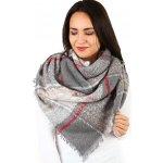 Glara Dámský zimní maxi šátek se vzorem šedá 402418 4815e6beeb