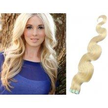 Vlnité vlasy pro metodu TapeX   Tape Hair   Tape IN 50cm platina a5660f552a