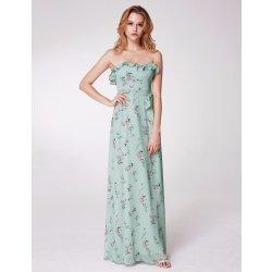 f4557a57d770 Ever-Pretty letní květované šaty bez ramínek mátová alternativy ...