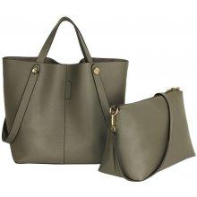 58e5f1f4a8f LS Fashion velká šedá shopper kabelka s pouzdrem 198