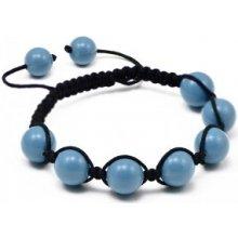 Náramek Shamballa s perly Turquoise BMB11.11