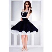 Společenské modré romantické šaty SaF