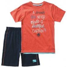 Blue Seven Dětská souprava oranžové tričko a kraťasy Vintage Sea