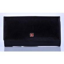 Peněženka kožená rámková 03 2707 01 Genevian černá