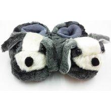Dětské papuče malý psík šedý