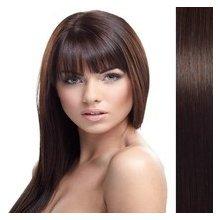 Clip in vlasy 55 cm 100% lidské – remy 70 g - 2 - tmavě hnědá