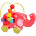 Bigjigs Toys Motorický labyrint na kolečkách Slon