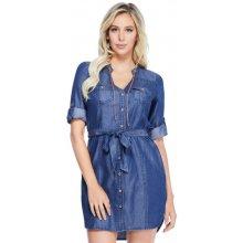 Guess džínové bavlněné šaty Maddy dark wash 992951ba35d