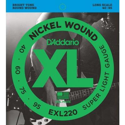D'Addario EXL220 + 1 rok prodloužená záruka zdarma