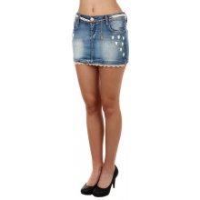Glara riflová sexy mini sukně modrá 60258 e8a1a687f1