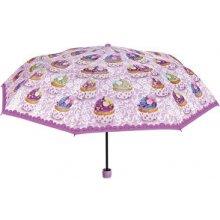 Blooming Brollies Dámský skládací plně automatický deštník Cupcake Themed 25915A