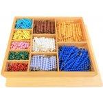 Montessori korálková krabice barevné schody (1-10)