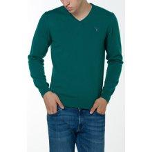Gant Pánský svetr O3. COLOR FRIDAY CASH BLEND V-NECK zelená S