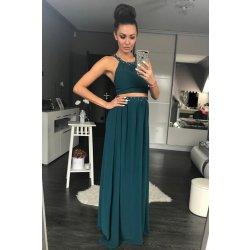 f282860058d PINK BOOM dámské plesové dlouhé šaty zelená