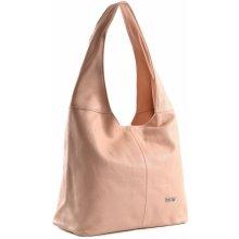 Bright Fashion kabelka vak kožená A4 růžová 770b02bdc48