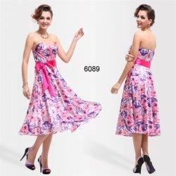 8737d36a84c0 Růžové polodlouhé květinové letní šaty na svatbu dovolenou ...