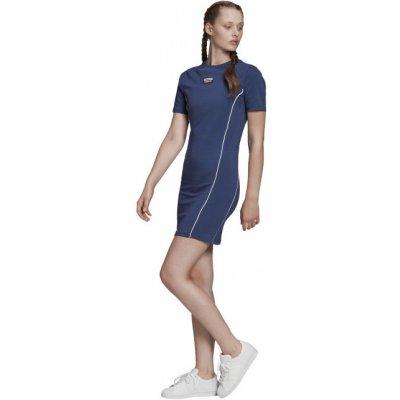 Adidas Originals šaty Tee dress tmavě modrá