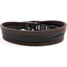 Lucleon Černo-hnědý náramek Roy Double Wrap MP_bracelet229