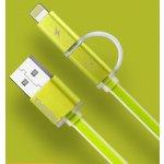 Remax AA-1146 MicroUSB - lighting, zelený