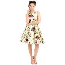 a49dee0194e1 Lady V London pastelově šaty s růžemi Tea žlutá