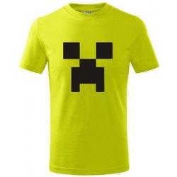 Dětské tričko Minecraft dětské tričko limetková 5beba42695