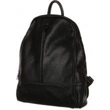 TopMode Koženkový ležérní batůžek černá