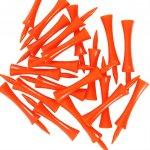 Dunlop Graduated Plastic Golf Tees Orange 2 3/4In