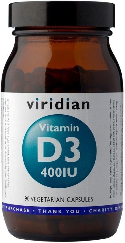 Viridian Vitamin D3 90 kapslí - 0
