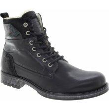 MUSTANG Pánská kotníková kožená obuv schwarz 4865610-9-267 5dc77009bd
